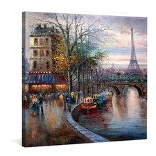 """Leinwandbild """"Die Seine"""", Originalgemälde"""