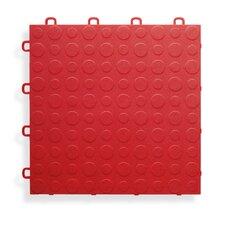"12"" x 12""  Garage Flooring Tile in Red"