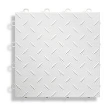 """12"""" x 12""""  Garage Flooring Tile in White"""