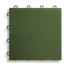 "12"" x 12""  Deck and Patio Flooring Tile in Green"