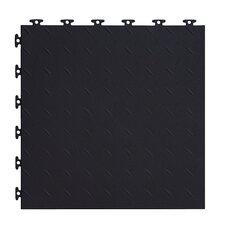 "18"" x 18""  Multi-Purpose Flexible PVC Diamond Pattern in Black (Set of 16)"
