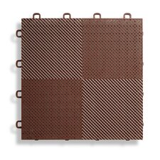 "12"" x 12""  Deck and Patio Flooring Tile in Brown"