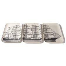 Maritime 3 Piece Melamine Platter Set