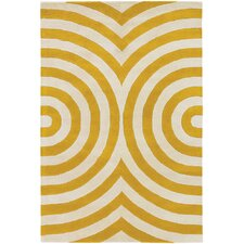 Tufted Pile Yellow Area Rug