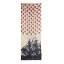 Vineyard Ship Linen Scarf