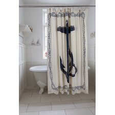 Bath Cotton Anchor Shower Curtain