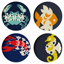 """Amalfi 11"""" Melamine Dinner Plate 4 Piece Set (Set of 4)"""