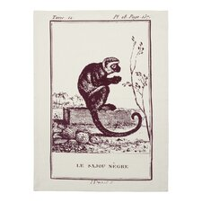 Vintage Engravings Monkey Clingancourt Tea Towel