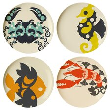 "Amalfi 9"" Melamine Salad Plate 4 Piece Set (Set of 4)"