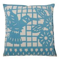 Mod Mex Hummingbird Cotton Throw Pillow