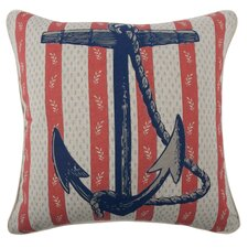 Vineyard Anchor Flax Throw Pillow