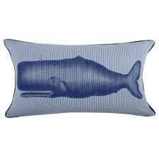 Moby Seersucker Cotton Lumbar Pillow