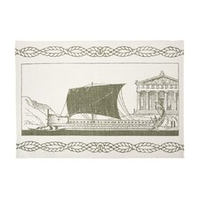 Grecian Ship Tea Towel