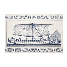 Egyptian Ship Tea Towel