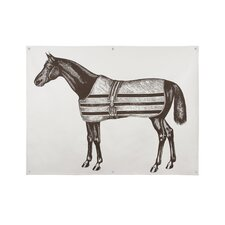 Equestrian Graphic Art on Canvas