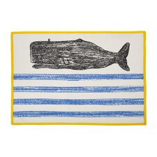 Whale Sketch Tea Towel