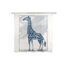 Giraffe Cotton Etching Shower Curtain