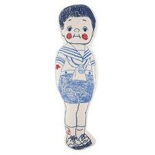 Sailor Boy Sketch Cotton Bed Rest Pillow