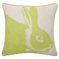 Linen Pillow Bunny Linen Throw Pillow