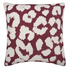 Fragments Leopard Cotton Throw Pillow