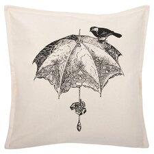 "Sparrow 18"" Parasol Cotton Throw Pillow"