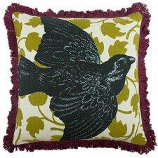 """Bird 18"""" Linen Throw Pillow"""