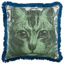 """Cat 18"""" Linen Throw Pillow"""