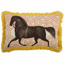 Horse 12x20 Linen Lumbar Pillow