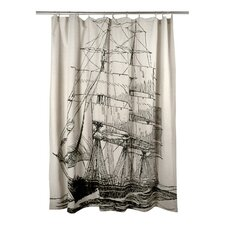 Ship Flax Shower Curtain