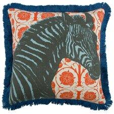 """Zebra 18"""" Linen Throw Pillow"""