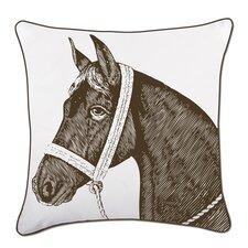 """Horse 18"""" Cotton Throw Pillow"""