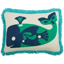 Amalfi Whale Cotton Boudoir Pillow