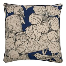 "Hibiscus 22"" Cotton Throw Pillow"