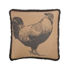 """Rooster 22"""" Cotton Throw Pillow"""