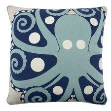 "Octopus 22"" Cotton Throw Pillow"