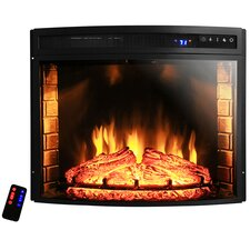 """28"""" Curved Electric Fireplace Insert"""