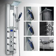 Thermostatic Tower Rainfall Shower Panel System