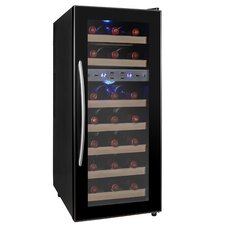 21 Bottle Dual Zone Freestanding Wine Refrigerator