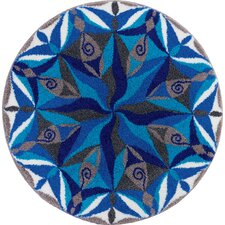 Mandala Blue Area Rug
