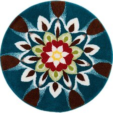 Mandala Harmony Blue Area Rug