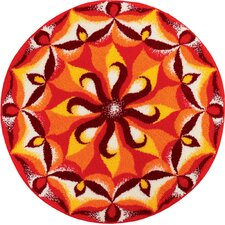 Mandala Spirit Orange Area Rug