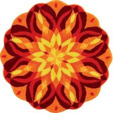 Mandala Orange Area Rug