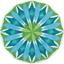 Teppich Mandala in Blau und Grün