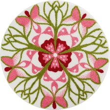 Mandala Playfulness Pink Area Rug