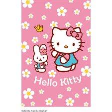 Motivteppich Hello Kitty in Rosa