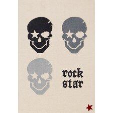 Motivteppich Rock Star Baby in Beige