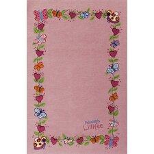 Handgewebter Motivteppich Prinzessin Lillifee in Rosa