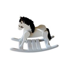 Amish Small Deluxe Crafted Rocking Horse with Mane