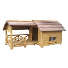 Houses & Paws™ Wooded Lux Dog House