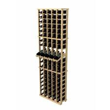 Rustic Pine 100 Bottle Wall Mounted Wine Rack